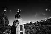 Princes Photo Posters - Royal Scots Greys Boer War Monument In Princes Street Gardens Edinburgh Scotland Uk United Kingdom Poster by Joe Fox
