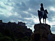 Greys Posters - Royal Scots Greys Statue In Edinburgh Scotland Poster by Amanda Finan