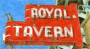 Sign Drawings Framed Prints - Royal Tavern Framed Print by Rob De Vries
