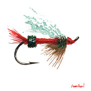 Sporting Art Originals - Royal Trude Salmon Fly by Sean Seal