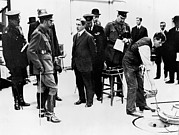 Conversing Photo Prints - Royal Visit To The Npl, 1917 Print by National Physical Laboratory (c) Crown Copyright