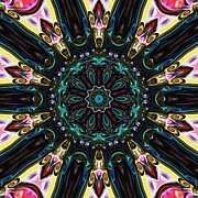 Purple Kaleidoscopes. Prints - Royal Wedding Print by Alec Drake