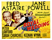 Astaire Posters - Royal Wedding, Fred Astaire, 1951 Poster by Everett