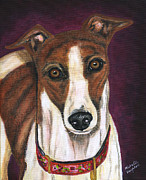 Dog Art Prints Prints - Royalty - Greyhound Painting Print by Michelle Wrighton