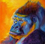 Gorilla Painting Posters - Royalty Poster by Kaytee Esser