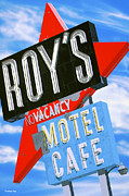 Retro Paintings - Roys Motel by Anthony Ross