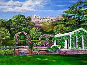 Garden Mountain Paintings - Rozannes Garden by Michael Durst
