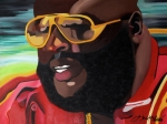 Hip-hop Paintings - Rozay by Chelsea VanHook