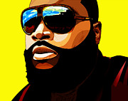 Rapper Mixed Media Framed Prints - Rozay Framed Print by The DigArtisT