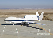 Edwards Framed Prints - Rq-4 Global Hawk Aircraft Framed Print by Photo Researchers