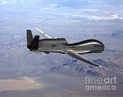 Usaf Framed Prints - Rq-4 Global Hawk Framed Print by Photo Researchers