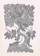 Gond  Drawings - Rsu 05 by Ramsingh Urveti