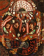 Lennon Mixed Media Originals - Rubber Soul by Michael Kulick