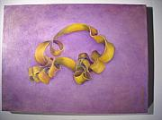 Abstract Realism Paintings - Rubberband Number Two by Martha Zausmer paul