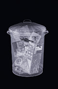 Thrown Away Framed Prints - Rubbish Bin, Simulated X-ray Framed Print by Mark Sykes