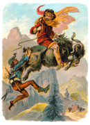 Carl Offterdinger - Rubezahl Aloft on a Goat...