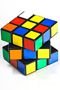 Unsolved Metal Prints - Rubiks Cube Metal Print by Photo Researchers