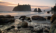 February Ocean Prints - Ruby Beach Sunset Print by Jim Chamberlain