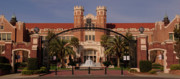 Fsu Posters - Ruby Diamond Auditorium on FSU Campus Panoramic Poster by Frank Feliciano