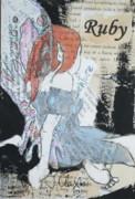 Ruby Fairy Print by Joanne Claxton
