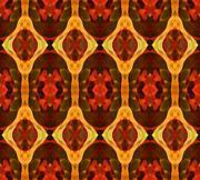 Ruby Glow Pattern Print by Amy Vangsgard