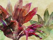 Leafy Mixed Media - Ruby by Kaypee Soh - Printscapes