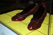 National Museum Of America History Prints - Ruby Slippers on the yellow brick road Print by LeeAnn McLaneGoetz McLaneGoetzStudioLLCcom