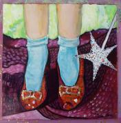 Glitter Paintings - Ruby Slippers by Tanya Johnston