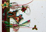 Gracie Mixed Media Originals - Rudolfs Christmas by Gracies Creations