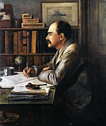 Ashtray Paintings - Rudyard Kipling by Granger
