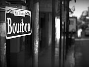 French Quarter Photos - Rue Bourbon by John Gusky