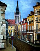 Street Painting Originals - Rue Lamonnoye in Dijon France by Nancy Mueller