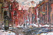 Expressionist Paintings - Rue Prince Arthur by Adamo  Tiseo