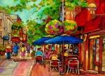 Rue Prince Arthur Montreal Print by Carole Spandau