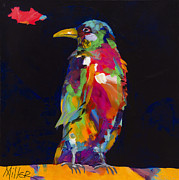 Contemporary Western Prints - Ruffled Feathers Print by Tracy Miller