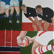 Rugby 2 Print by Pat Barker
