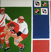 Five Nations Prints - Rugby 3 Print by Pat Barker