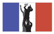 Throw Posters - Rugby France Poster by Aloysius Patrimonio