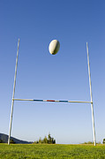 Goal Post Framed Prints - Rugby Goal Scoring Framed Print by Jupiterimages