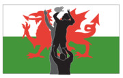 Illustration Prints - Rugby Wales Print by Aloysius Patrimonio