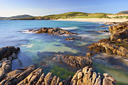 Outer Hebrides Framed Prints - Rugged Coastline Along Sound Of Taransay, Isle Of Harris, Outer Hebrides, Scotland Framed Print by Tim Hurst