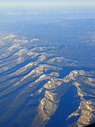 Forbidding Prints - Rugged Rockies Aerial II Print by Al Bourassa