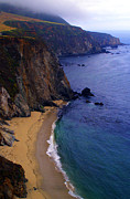 Bixby Bridge Metal Prints - Rugged Shoreline Metal Print by Ron Regalado