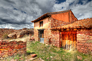 Teruel Prints - Ruin at Albarracin Print by Jon Jones