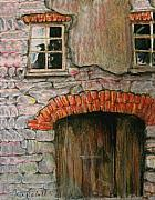 Old Door Pastels - Ruin by Orla Cahill