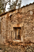 Cabin Window Photos - Ruined Sounion House 3 by Deborah Smolinske