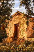 Cabin Window Photos - Ruined Sounion House 8 by Deborah Smolinske