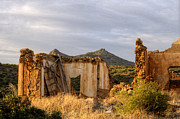 Cabin Window Photos - Ruined Sounion House 9 by Deborah Smolinske