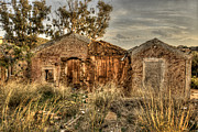 Decayed Barn Framed Prints - Ruined Sounion House Framed Print by Deborah Smolinske