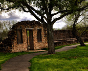 Spring Scenes Prints - Ruins at the Mission San Francisco de la Espada Print by Gerlinde Keating - Keating Associates Inc